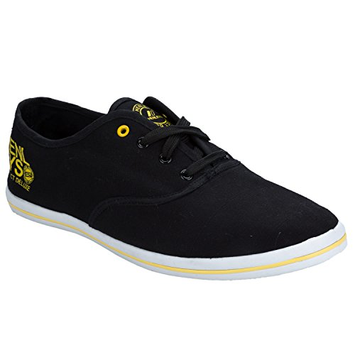 Quiksilver Men's Foundation Canvas Shoes KRMSL373 Multicolor - negro/amarillo
