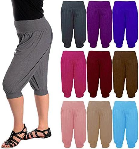 Nieuwe Dames 34 Harem Ali Baba Broek Shorts Womens Plain Cropped BroekpaarsEen maat