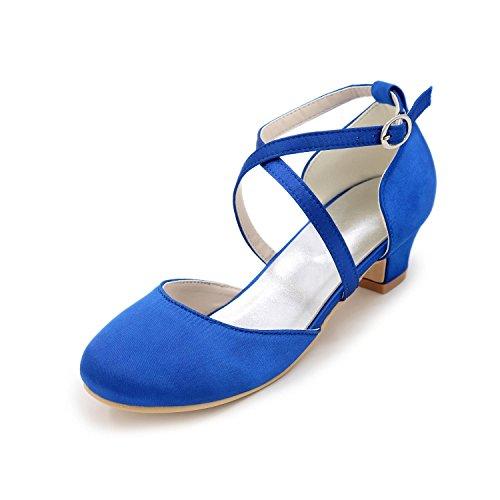 Blue Chaussures Fille Talons Automne Printemps À Evénement yc L Eté Talon Argent Rouge Mariage Champagne Bas Bleu Soie Soirée amp; qS5xHgAEw