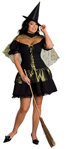 Wizard of Oz Secret Wishes Wicked Witch Of The West Costume, Black, Plus]()