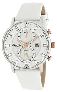 Kenneth Cole KC2689 - Reloj analógico de cuarzo para mujer con correa de piel, color blanco