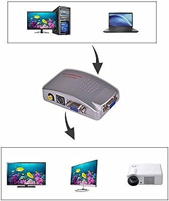 PC VGA a vídeo por componentes AV RCA S-Video adaptador Conversor ...