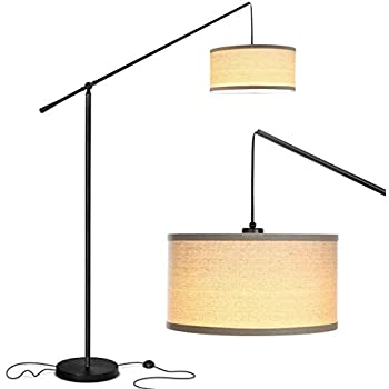Brightech Hudson 2 Contemporary Arc Floor Lamp Stands Up