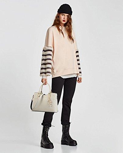 White Women's Shoulder Large Handbag Minimalist Capacity Messenger Bag Sleek Sdinaz qwczd6a4Cq