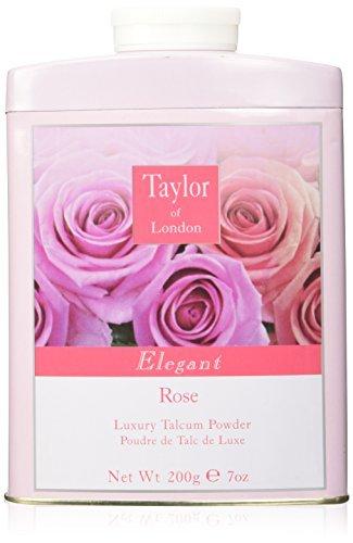 Taylor of London Elegant Rose Luxury Talcum Powder 7 Oz. From England by Taylor of London