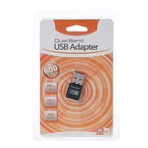 Yintiod - Tarjeta WLAN inalámbrica, 600 Mbps, Adaptador USB WiFi ...
