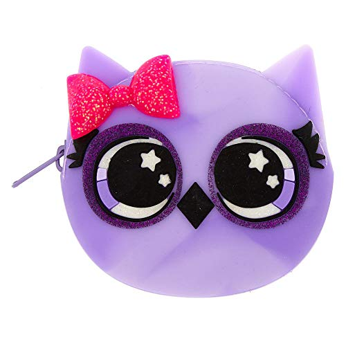 Claire's Girl's Avery the Owl Jelly Coin Purse - Purple