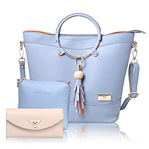 JFC Shining Star Women's Canvas Handbag and Shoulder Bag with Sling Bag Combo ST-001 CLUTCH
