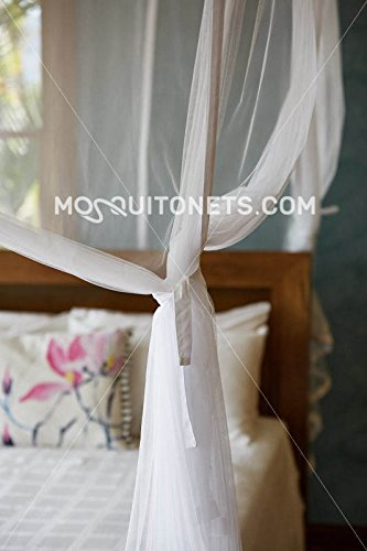 Mosquito NET Bed Canopy | Queen Size Bed Net | Easy Care Machine Washable Mosquito Netting | Secure Insect Protection with The Designer Mosquito net by MosquitoNets (Image #5)