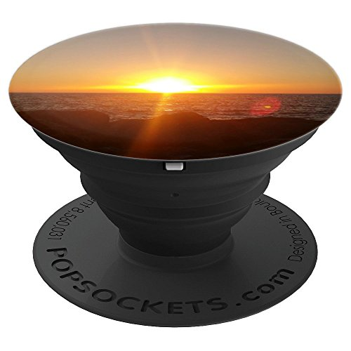 Sunset Pop Socket Beautiful Sunrise On Ocean Lake Water - PopSockets Grip and Stand for Phones and (Sunset Ocean)