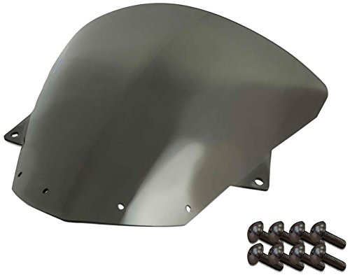Sportbike Windscreens ADKW-412S Smoke Windscreen (Kawasaki Zx10 (08-10) Zx-6R(09-14) With Silver screw kit),2 Pack
