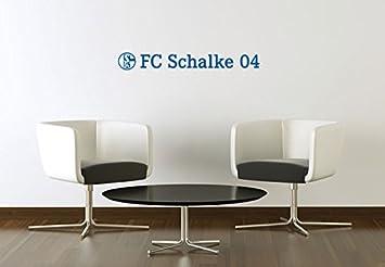 Wandtattoo - Schalke 04 Logo mit Schriftzug: Amazon.de: Küche & Haushalt