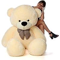 Lovebug Cute Bootsy Creem 90 cm 3 feet Huggable and Loveable for Someone Special Teddy Bear - 90 cm(Creem)