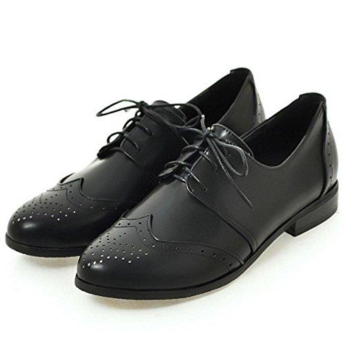 Chaussures Brogue Tailles Femmes Big Casual black Zanpa 3 aq4At4