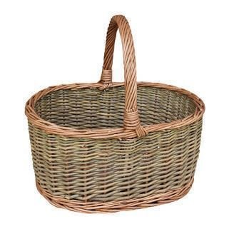 Large Country Oval Wicker Shopping Basket