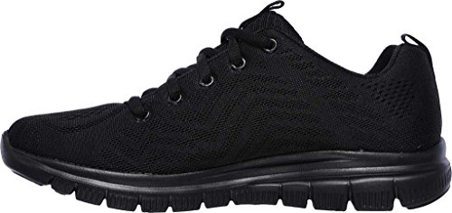 Black Women Trainers Skechers Black Top 12615 Low TvxTwqCX