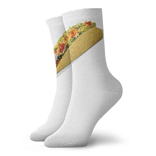 YUANSHAN Socks Food - Taco Bueno Women & Men Socks Soccer Sock Sport Tube Stockings Length 11.8Inch]()