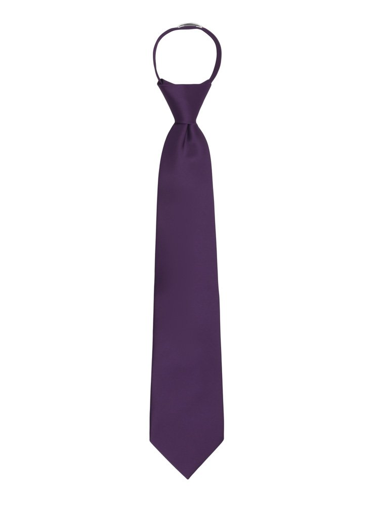 Jacob Alexander Boys 14 Pretied Ready Made Solid Color Zipper Tie Lime