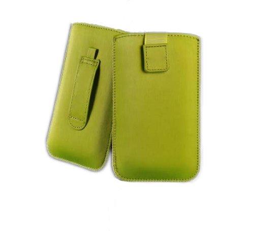 handy-point SATIN Neo Aluminium Optik Hülle Schutztasche Pull up Tasche Grün für iPhone SE / 5 / 5S / 5C, Htc Desire X / HTC One V / HTC Windows Phone 8S, LG Optimus L5 / LG Optimus L5 2, Nokia Lumia