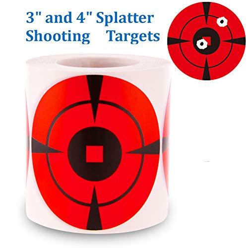 Splatter Target Stickers 200 Mega-Pack 4-Inch Shooting Targets PhotonDynamic-Bullseye Targets for Shooting-High Visibility Impact-Premium Self-Adhesive Gun Target for Airsoft Guns-Pellet Guns-Rifle.
