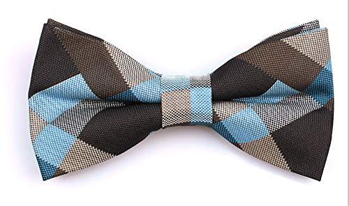 Blue Black Grey Medern Tartan Plaid Bow Ties Fashion Daily Wear Working Business for Mens Boys