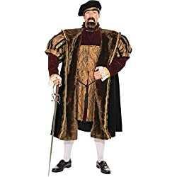 Forum Deluxe Designer Collection King Henry The VIII Costume, Multi, X-Large