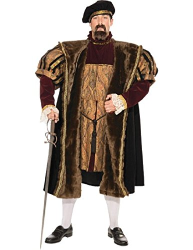 Forum Deluxe Designer Collection King Henry The VIII Costume, Multi, X-Large -