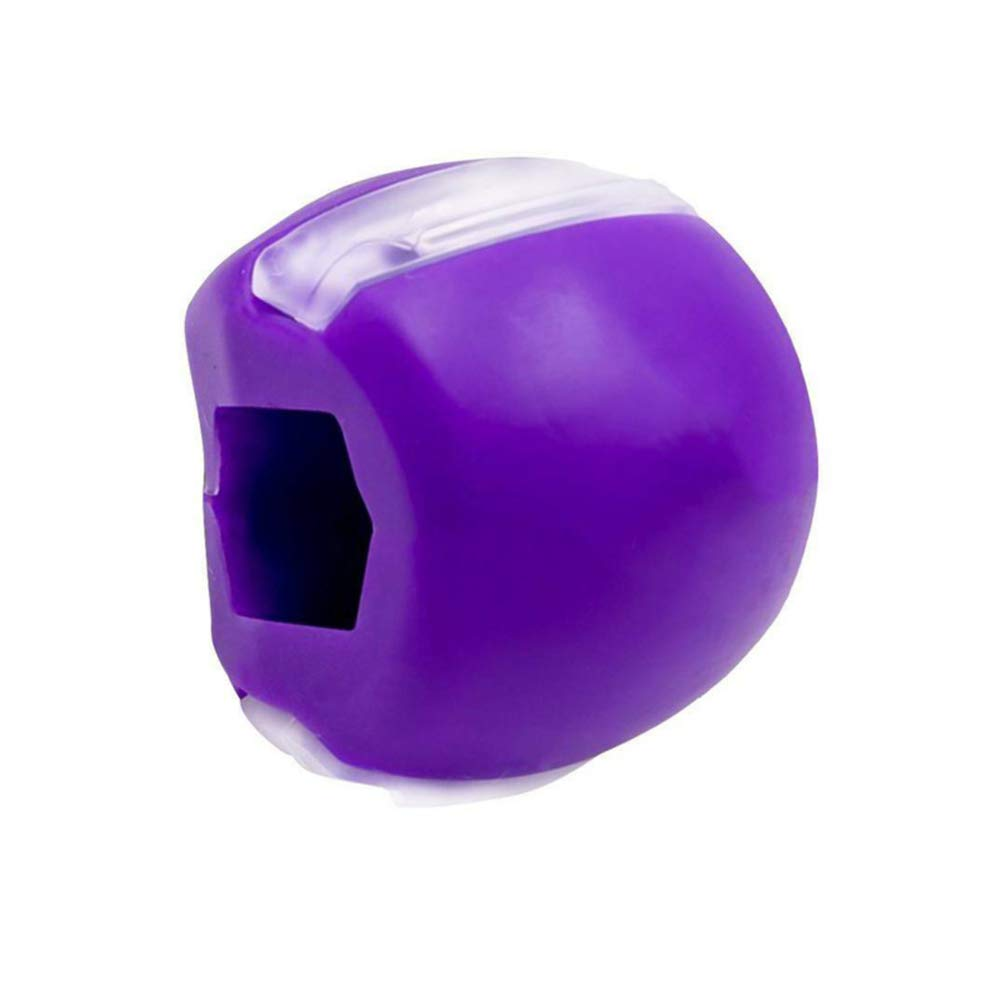 Jaw Exerciser Jaw Face and Neck Exerciser Define Your Jawline Slim and Tone Your Face Facial Toner Jawz Exercise Ball Slimming & Neck Muscle - Facial Exerciser(Purple)