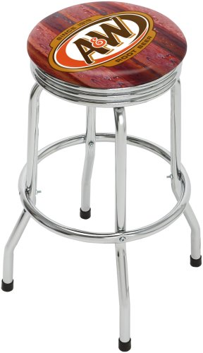 On The Edge A&W Rootbeer Single Foot Ring Barstool with Swivel