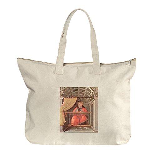 St Augustine In Exam (Botticelli) Canvas Beach Zipper Tote Bag - Shopping St Augustine Center