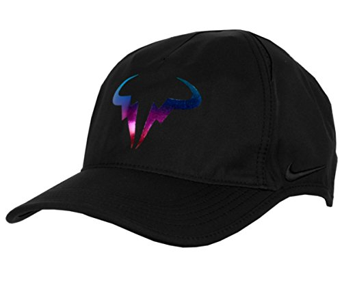ef80adca73667 NIKE Rafael Nadal Rafa Bull Premier 2.0 Featherlite Adjustable Tennis Hat  (Black with Neon Signature Logo   Embroidered Swoosh) - Buy Online in UAE.