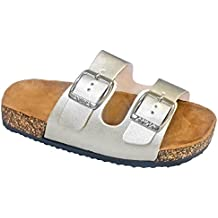 Trends SNJ Open Toe Buckle 2 Strap Thong Slide Sandals Girl (Toddler Little Kid)