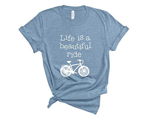 Life is a Beautiful Ride Shirt. Unisex T-Shirt. Bike Shirt. Beautiful Life Shirt. Bicycle T-Shirt.