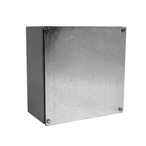 Milbank 664-WSC2 NEMA 1/3/12 Polyester Powder Coated Galvanized Over Phosphatized Steel Gasketed Screw Cover Junction Box 6 Inch x 6 Inch x 4 Inch ANSI 61 Gray CNSP by Milbank (Image #2)