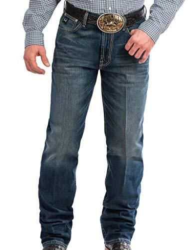 Cinch Men's Tall Size Black Label Loose Fit Jean, Performance Medium Stonewash 32 x38 ()