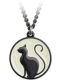 Meow at the Moon Pendant