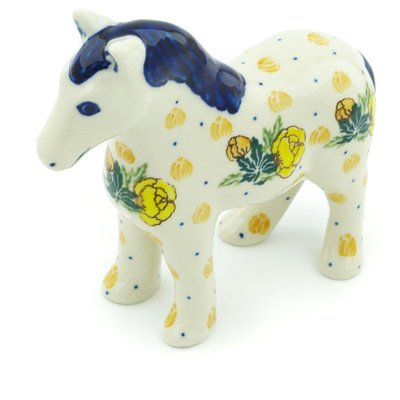 Polish Pottery Horse Figurine 6-inch ()