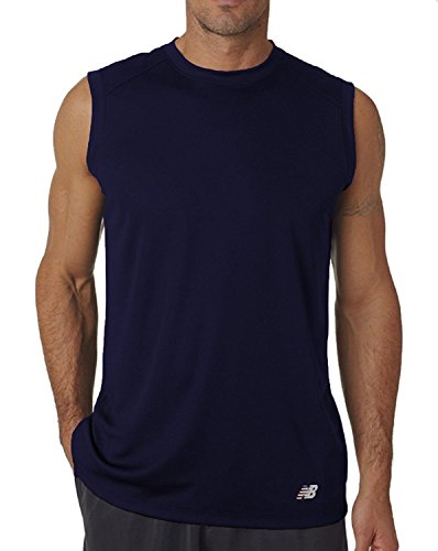 New Balance Mens Ndurance Moisturizing Wicking Training Athletic Workout T-Shirt Denim Navy