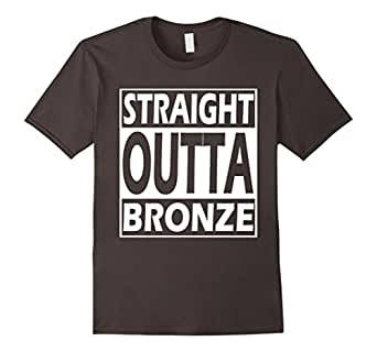 Men's STRAIGHT OUTTA BRONZE - LoL Gaming League T-Shirt 2016 Medium Asphalt