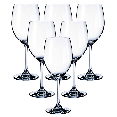 Kingrol 6 Piece 11.5 oz. Red Wine Glasses, Classic Stemware Set for Daily, Formal, Outdoor Use