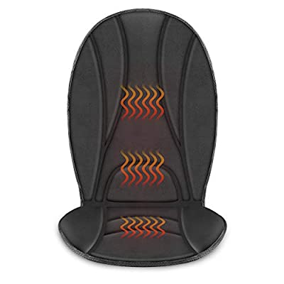 COMFIER Heated Car Seat Cushion - 3 Fast Heating Pads with Auto Shut Off, Adjustable 2 Heat Levels, Car seat Warmer, Seat Heater?Seat w12V Universal Fit Heating Car Seat Cover ... from Comfier