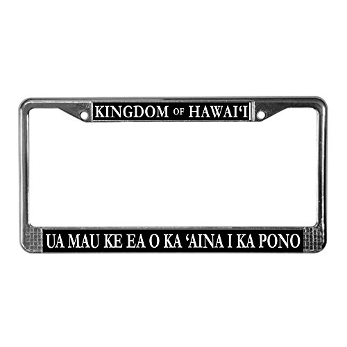 CafePress Kingdom Hawaii License Chrome