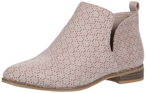 Dr. Scholl's Shoes Women's Rate Ankle Boot, Putty Perforated Microfiber Suede, 9 W US