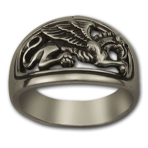 Amazon com: GRYPHON MASONIC RING Sterling SILVER 925 GOLD