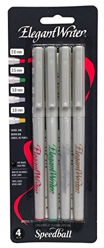 Speedball 002886 Elegant Writer Special Occasion Set - 4 Assorted Elegant Writer Marker Set