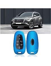 SHAOHAO Etui na kluczyki do Hyundai 2021+, silikonowe etui na kluczyki samochodowe, etui ochronne do samochodów (niebieskie)