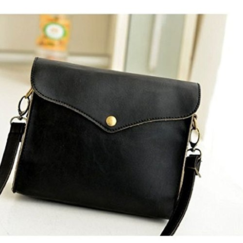 Retro Canserin Women's Hot Sale Shoulder Bag Handbag PU Tote Hobo Leather Satchel Messenger Women Handbag Black Packet rIwXIB