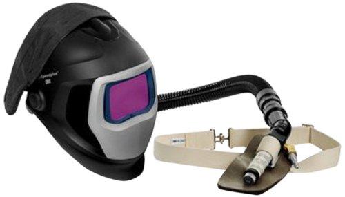 3M Speedglas Fresh-Air III Supplied Air System with V-100 Vortex Air-Cooling valve and Speedglas Welding Helmet 9100-Air, 25-5702-30SW with SideWindows and Auto-Darkening Filter 9100XX, Shades 5, 8-13