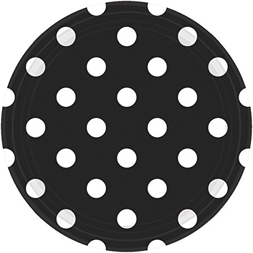 Amscan 551537.1 Tableware Collection, Dots Round Plates Party Supplies, 9