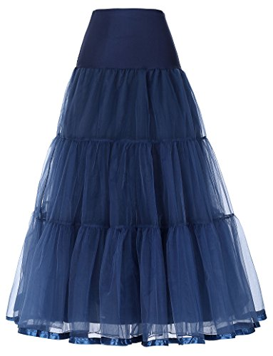 - GRACE KARIN New Year Dresses Underskirts Half Slip for Date (2X,Navy Blue)